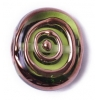 Glass Lamp Bead 17/20mm Round Flat Transparent Green/Bronze